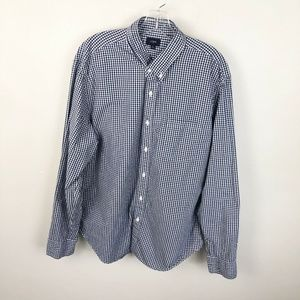 J Crew Factory Gingham Print Button Up Shirt XL